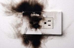 burned outlet You need a qualified electrician NOW