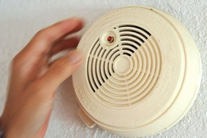 test button on your smoke detectors